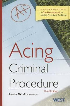 Acing: Criminal Procedure 3rd Edition
