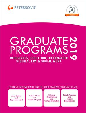Graduate Programs in Business, Education, Information Studies, Law and Social Work 2019 (Grad 6)