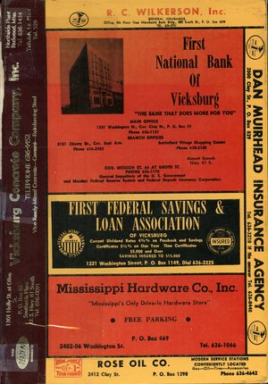 1970, Vicksburg – Warren County, Mississippi Polk City Directory