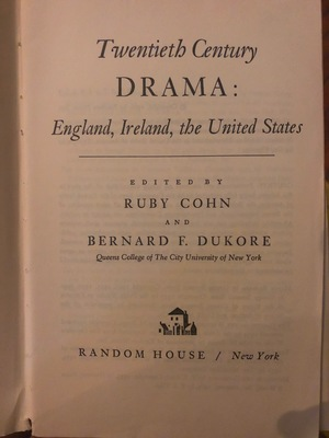 Twentieth century drama: England, Ireland, and the US