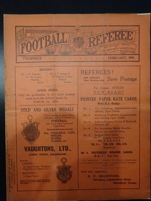 Football Referee - 1934-02 - February, The