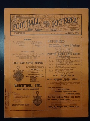 Football Referee - 1934-08 - August, The