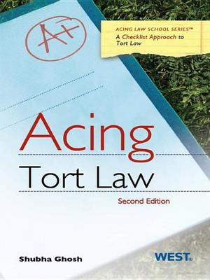 Acing: Tort Law 2nd Edition
