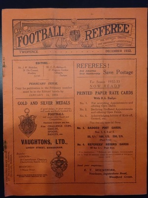 Football Referee - 1932-12 - December, The