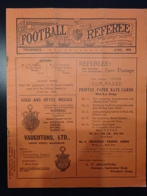 Football Referee - 1934-06 - June, The
