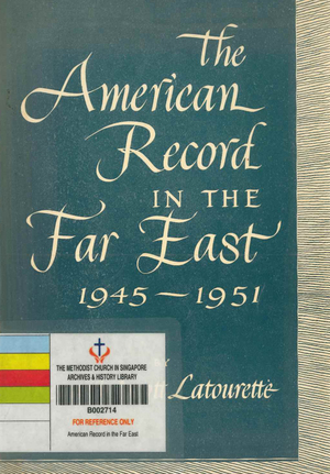 American Record in the Far East 1945-1951, The