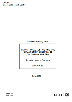 Transitional Justice and the Situation for Children in Colombia and Peru