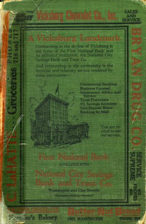 1926, Vicksburg – Warren County, Mississippi Polk City Directory