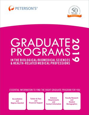 Graduate Programs in the Biological/Biomedical Sciences and Health-Related Medical Professions 2019 (Grad 3)