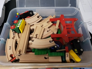 Wooden Track and Train Set