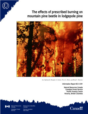 Effects of Proscribed Burning on Mountain Pine Beetle on Lodgepole Pine, The