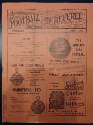 Football Referee - 1932-04 - April, The