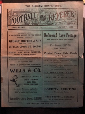 Football Referee - 1927-08 - August, The