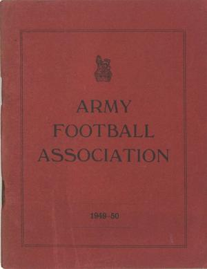 Army Football Association 1949-50 Rules of the Association and Laws of the Game
