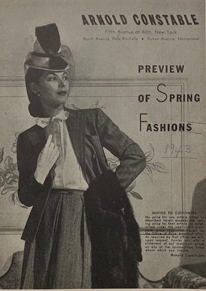 Arnold Constable Preview of Spring Fashions 1943