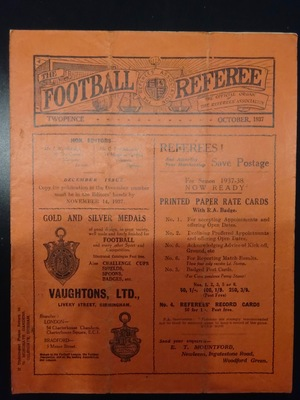 Football Referee - 1937-10 - October, The