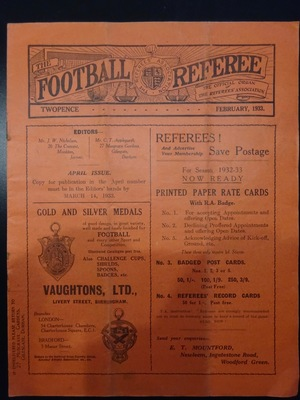 Football Referee - 1933-02 - February, The