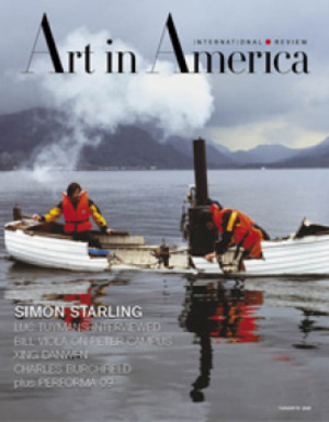 Art In America Magazine (Feburary 2010) INTERNATIONAL REVIEW #2, Simon Starling