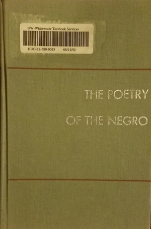 Poetry of the Negro, The