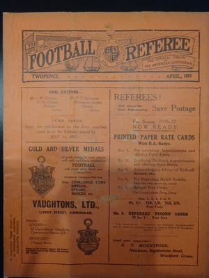 Football Referee - 1937-04 - April, The
