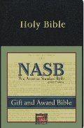 New American Standard Gift & Award Bible; Black Imitation Leather
