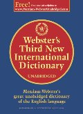 Dictionary, Webster's Third New International