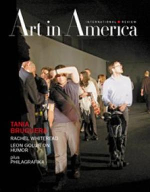 Art In America Magazine (April 2010) INTERNATIONAL REVIEW #4, Tania Bruguera