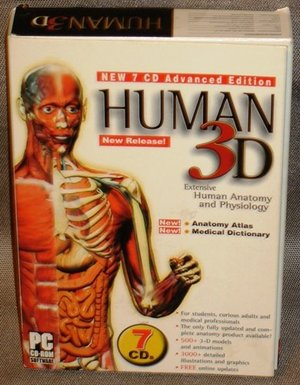Human 3D : Extensive Human Anatomy & Physiology 7 CD Advanced Edition PC CD-ROM