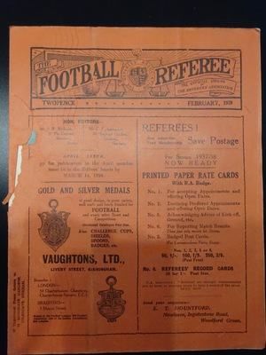 Football Referee - 1938-02 - February, The