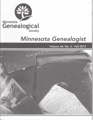 Minnesota Genealogist 44_03 Fall 2013