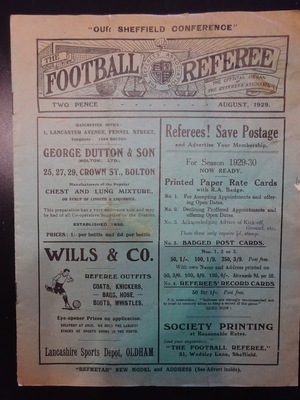 Football Referee - 1929-08 - August, The