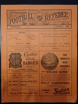 Football Referee - 1932-08 - August, The