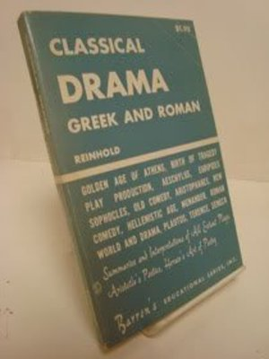Classical Drama, Greek and Roman (Barron's Essentials / The Efficient Study Guides)