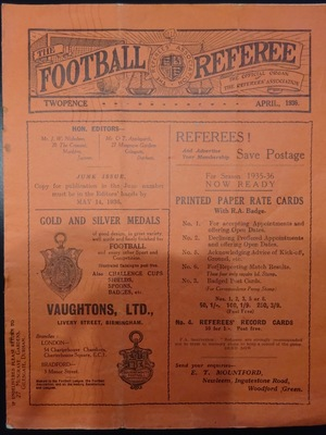 Football Referee - 1936-04 - April, The