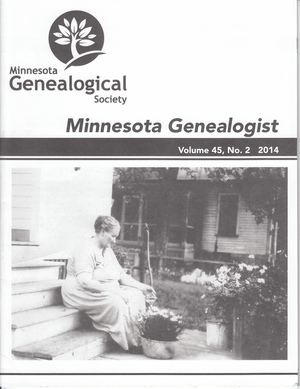 Minnesota Genealogist 45_02 Summer 2014