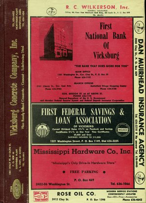 1969, Vicksburg – Warren County, Mississippi Polk City Directory
