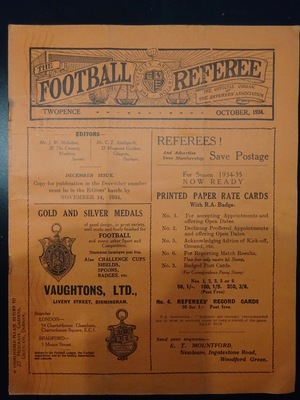 Football Referee - 1934-10 - October, The