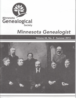 Minnesota Genealogist 44_02 Summer 2013