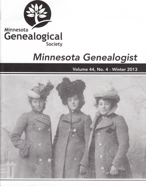 Minnesota Genealogist 44_04 Winter 2013