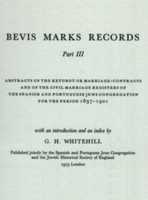 Bevis Marks Records Part III (1837-1901)