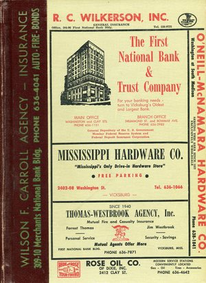 1961, Vicksburg – Warren County, Mississippi Polk City Directory