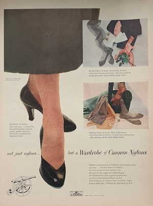 Advertisement Tear Sheet - Cannon Nylons & Koroseal Flexible Materials by B.F. Goodrich 1948