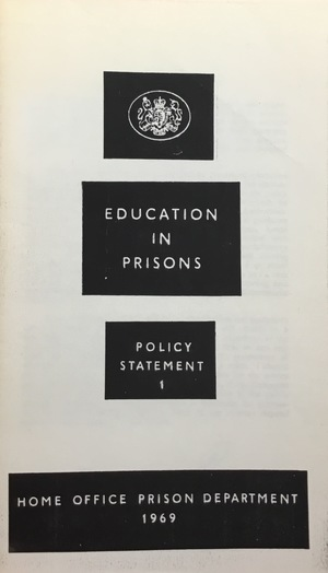 Education in Prisons: Policy Statement 1