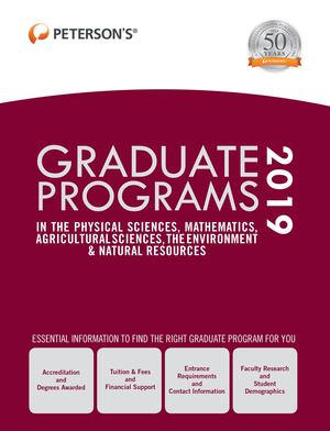 Graduate Programs in the Physical Sciences, Mathematics, Agricultural Sciences, the Environment and Natural Resources 2019 (Grad 4)