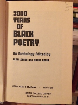 3000 Years of Black Poetry: An Anthology