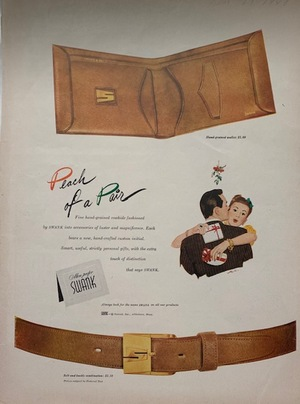 Advertisement Tear Sheet - Swank & I.W. Harper 1948