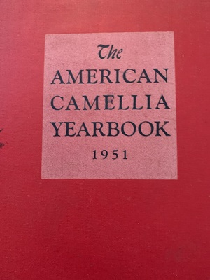 American Camellia Yearbook 1951