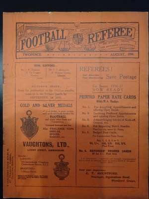 Football Referee - 1936-08 - August, The
