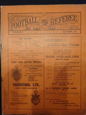 Football Referee - 1935-10 - October, The