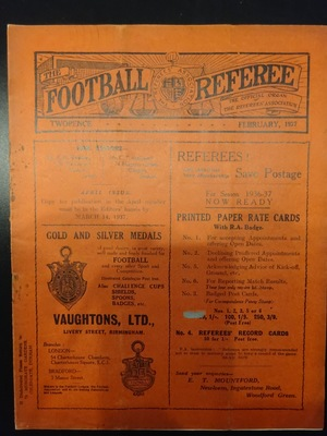 Football Referee - 1937-02 - February, The